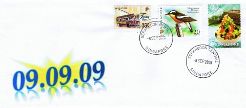 090909 Cover with 81 Cents of Stamps