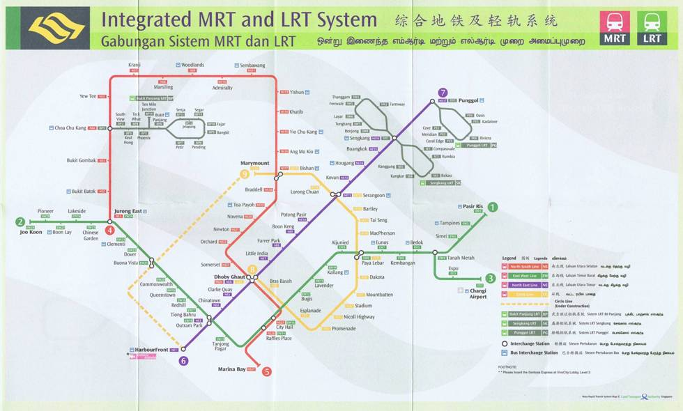 Yet Another Integrated MRT and LRT System Map  The Restaurant by