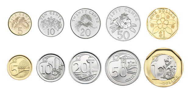 Singapore Money Coins These Coins Mark Singapore's